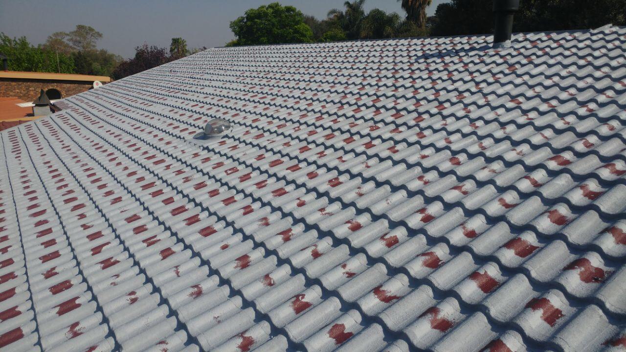 Horizontal & Vertical waterproofing of tile roof,  Before