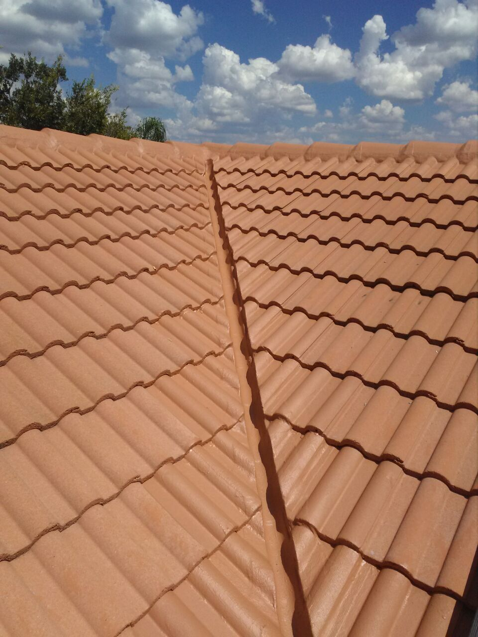 Complete Valley repair of tile roof